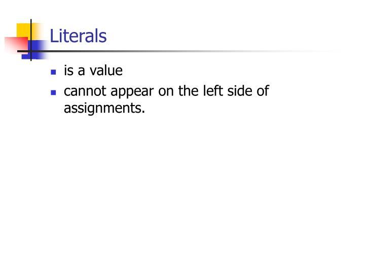 Literals