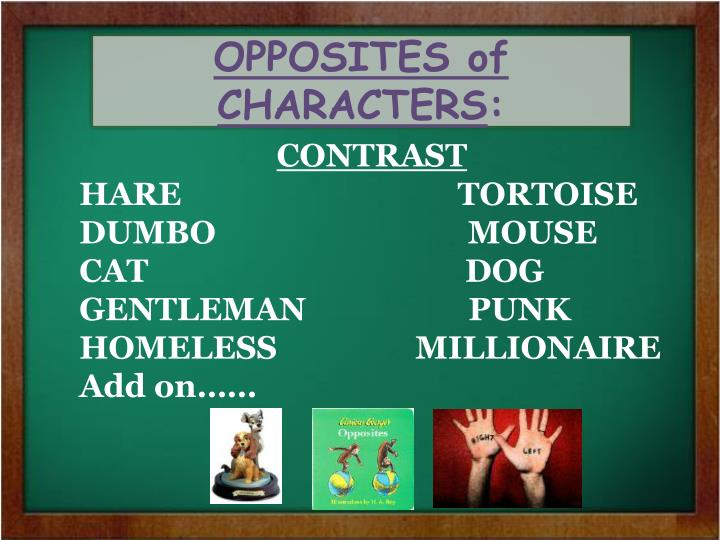 OPPOSITES of CHARACTERS