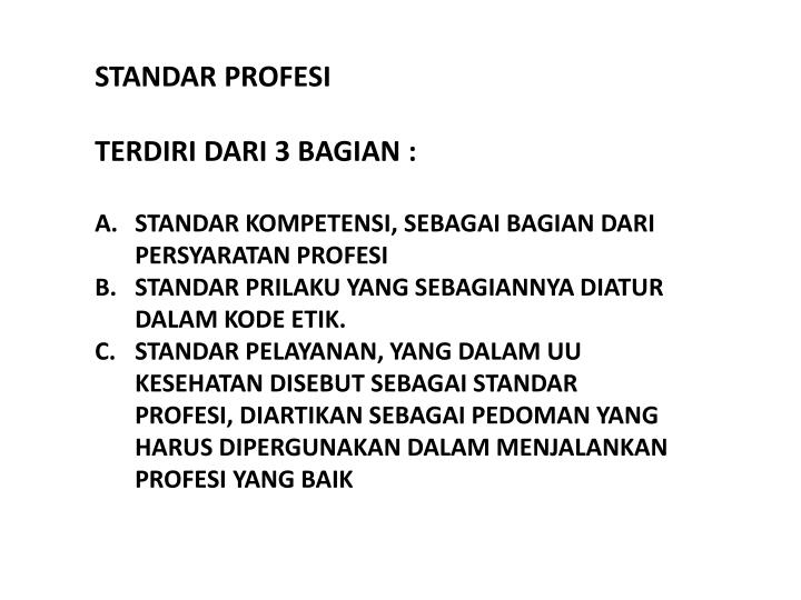 STANDAR PROFESI