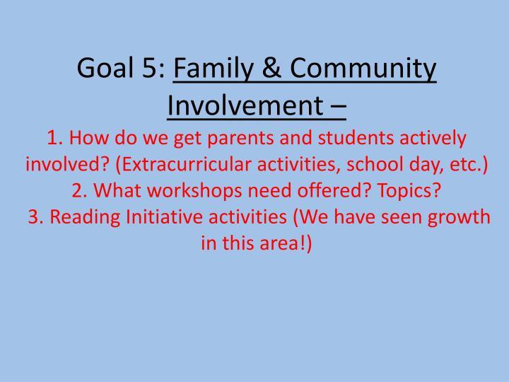 Goal 5: