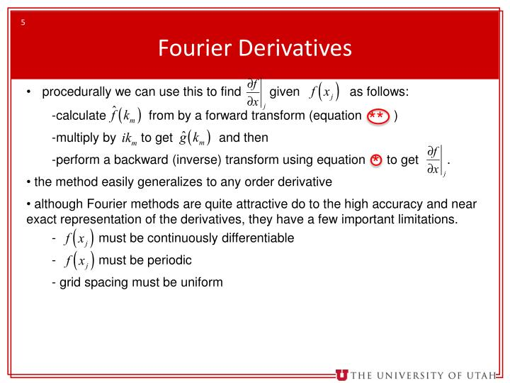 Fourier Derivatives