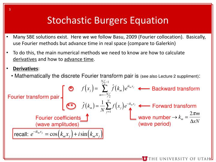 Stochastic burgers equation1