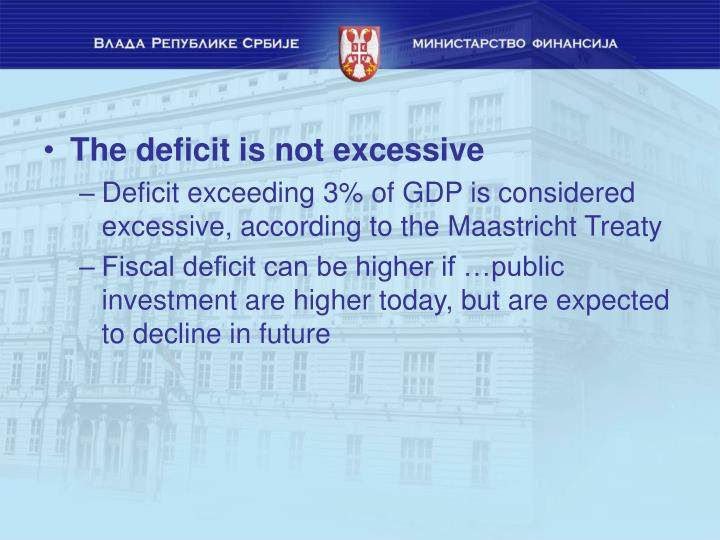 The deficit is not excessive