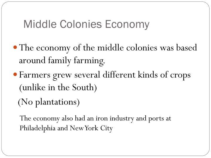 Middle Colonies Economy