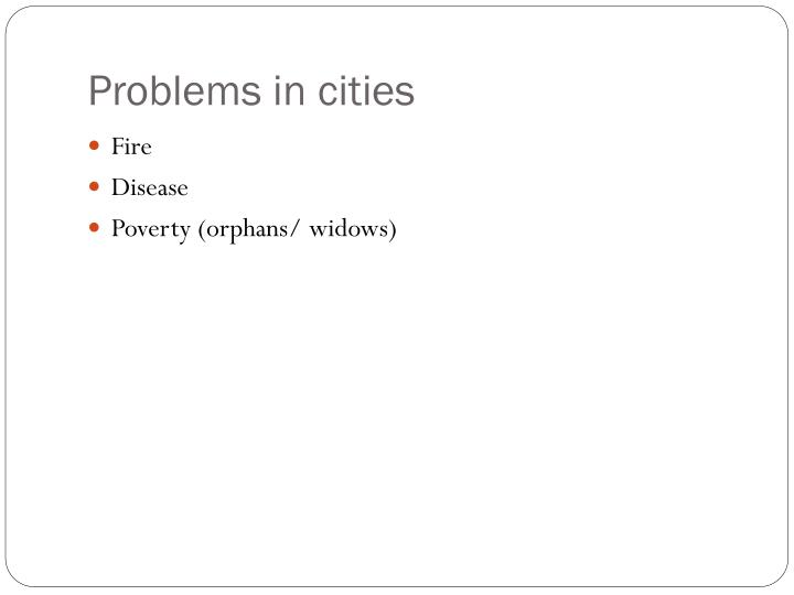 Problems in cities
