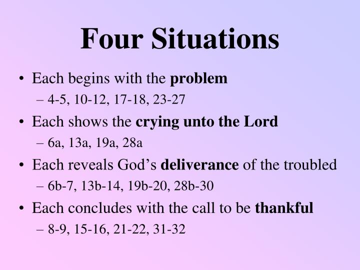 Four situations