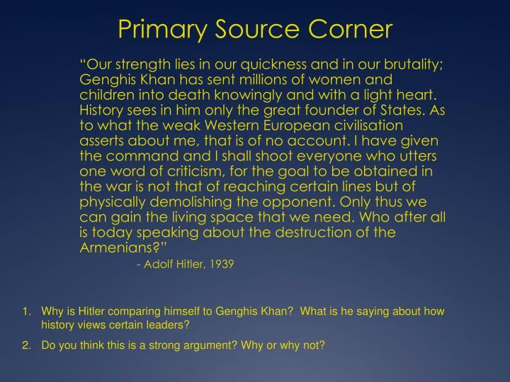 Primary Source Corner