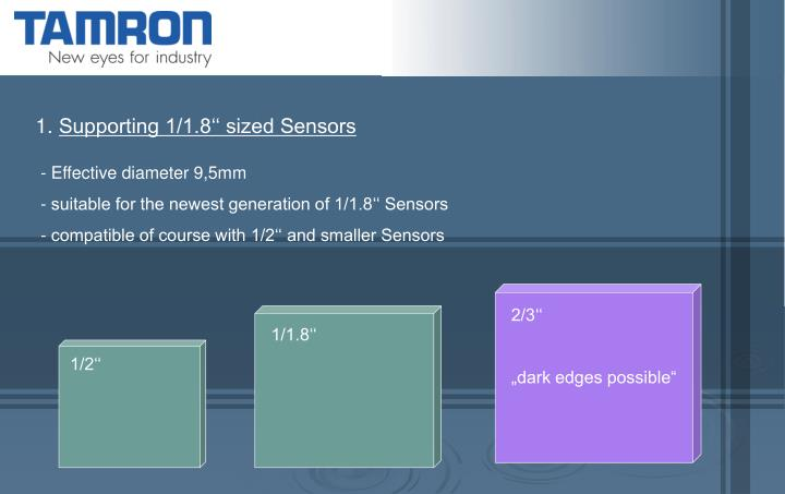 Supporting 1/1.8'' sized Sensors
