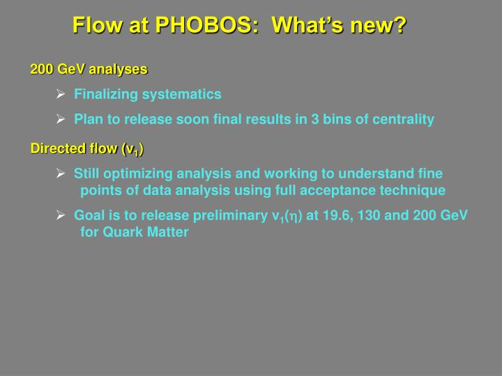 Flow at PHOBOS:  What's new?