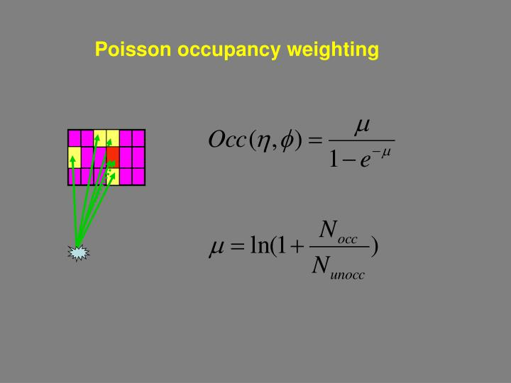 Poisson occupancy weighting