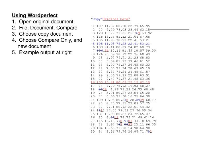 Using Wordperfect