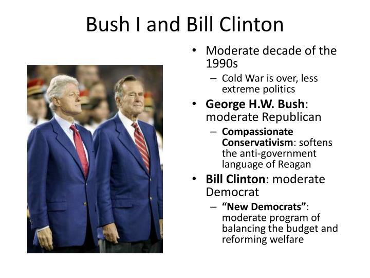 Bush I and Bill Clinton