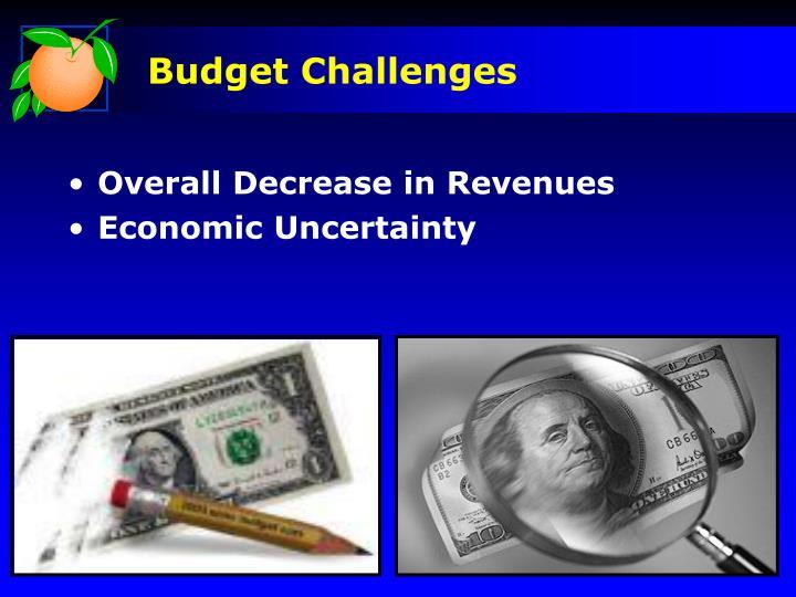 Overall Decrease in Revenues