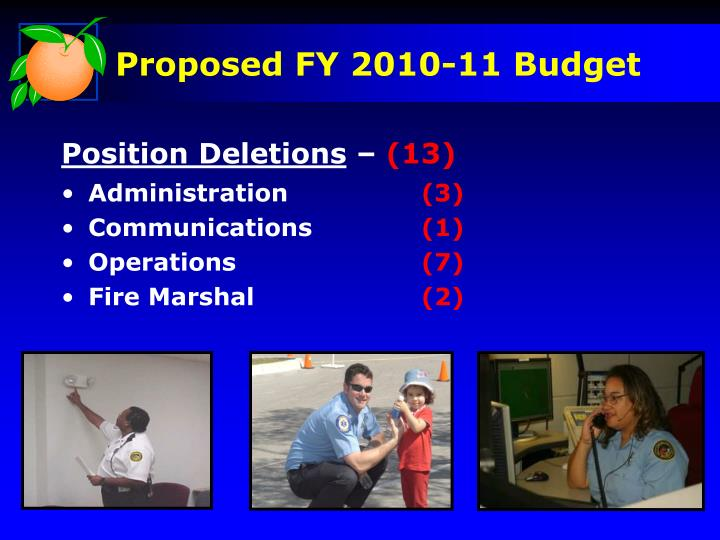 Proposed FY 2010-11 Budget