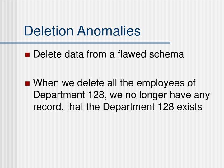 Deletion Anomalies