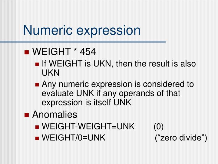 Numeric expression