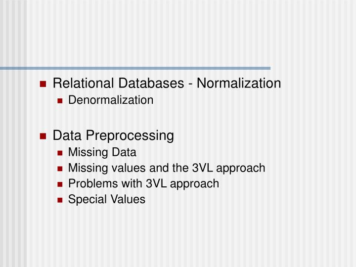 Relational Databases - Normalization