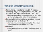 what is denormalization