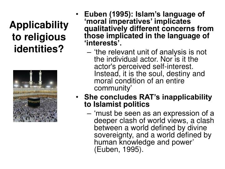 Applicability to religious identities