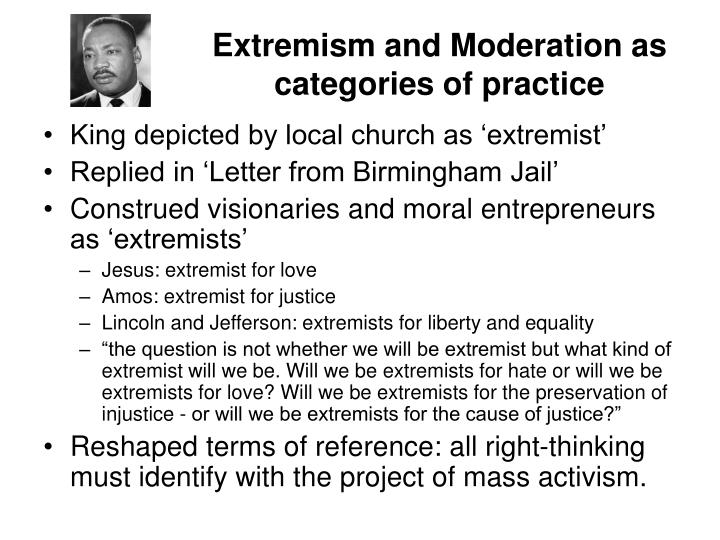 Extremism and Moderation as categories of practice