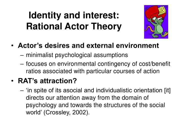 Identity and interest rational actor theory