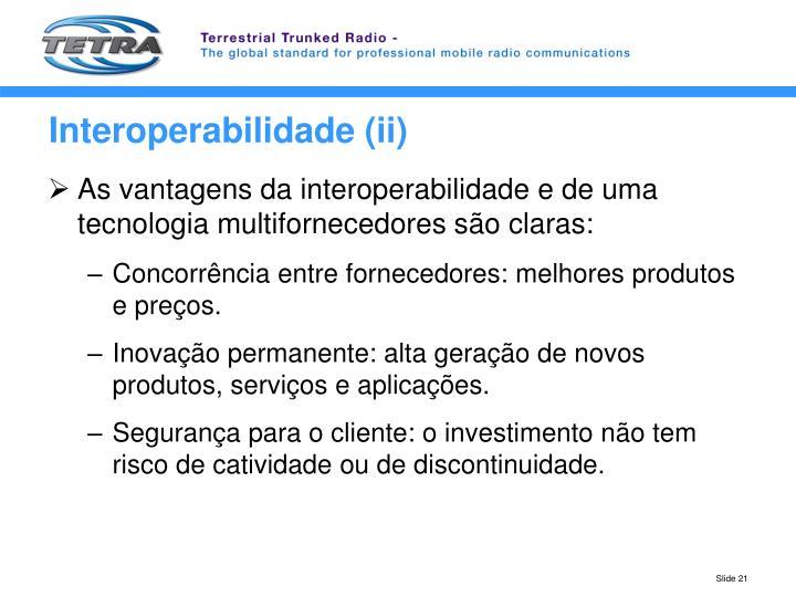 Interoperabilidade (ii)