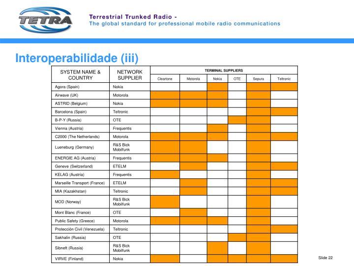 Interoperabilidade (iii)