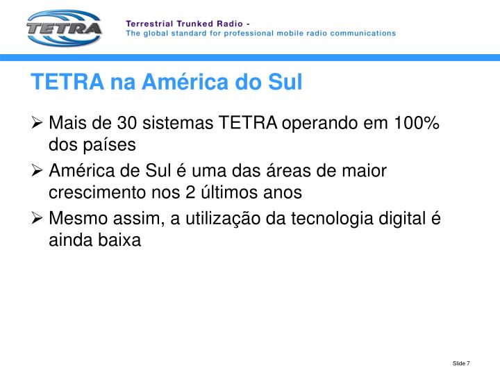 TETRA na América do Sul