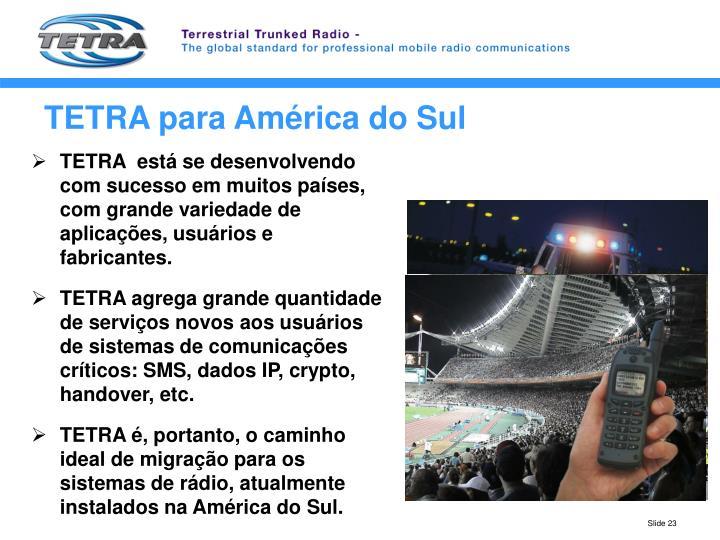 TETRA para América do Sul