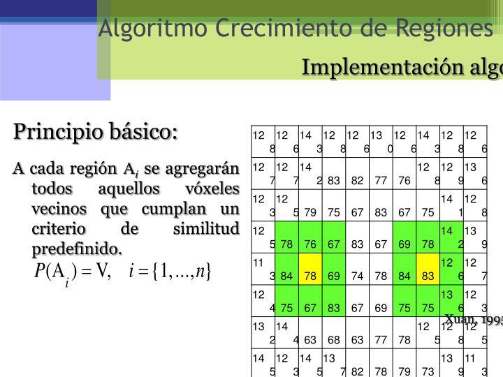 Algoritmo Crecimiento de Regiones