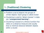 1 traditional clustering