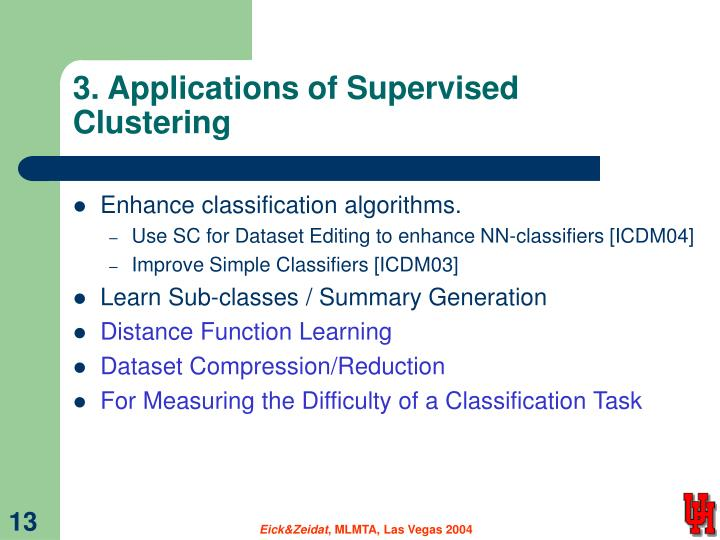 3. Applications of Supervised Clustering