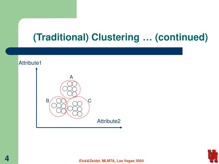 (Traditional) Clustering… (continued)
