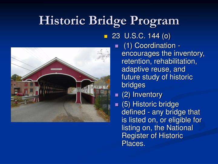 Historic Bridge Program