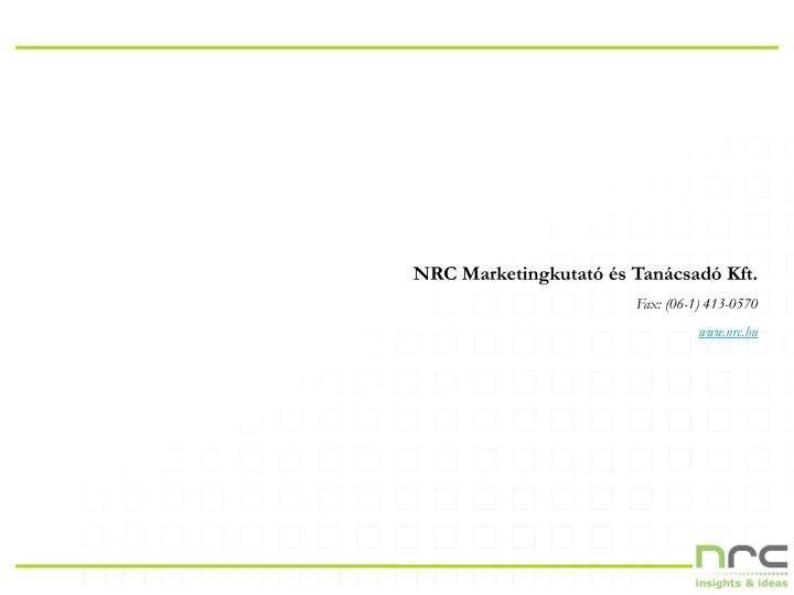 NRC Marketingkutató és Tanácsadó Kft.