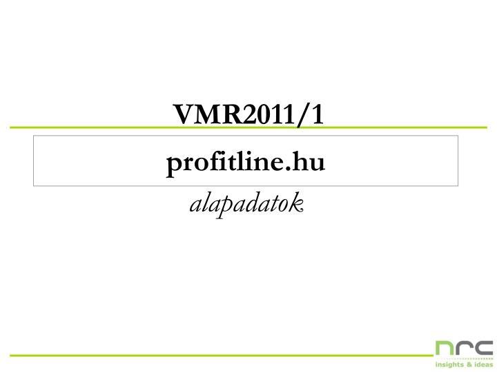 VMR2011/1