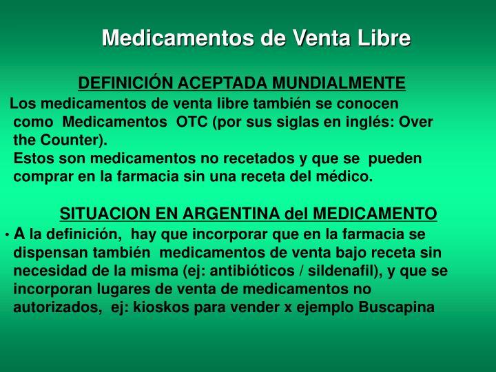 Medicamentos de Venta Libre