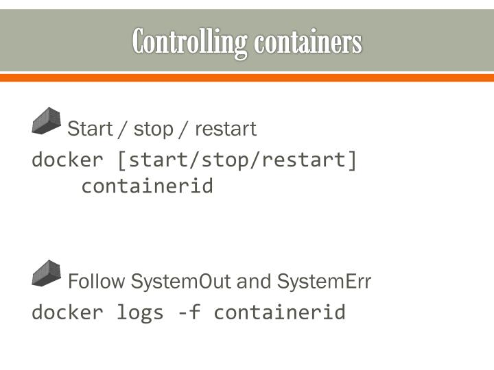 Controlling containers