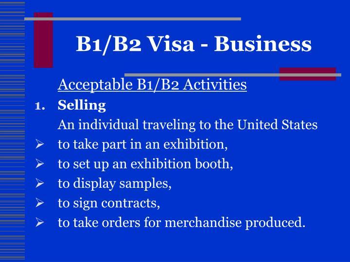 B1/B2 Visa - Business