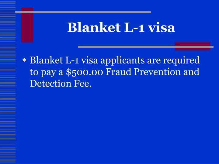 Blanket L-1 visa