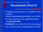 documents part i