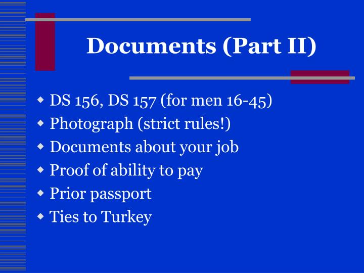 Documents (Part II)