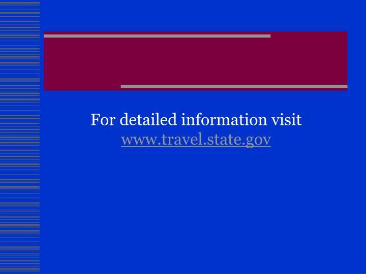 For detailed information visit