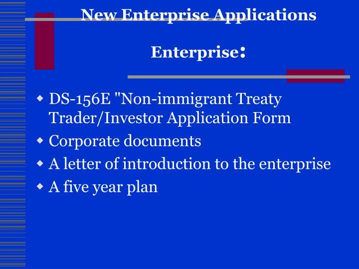 New Enterprise Applications