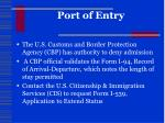 port of entry1