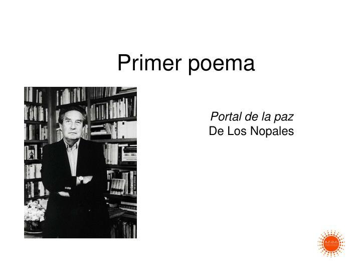 Primer poema