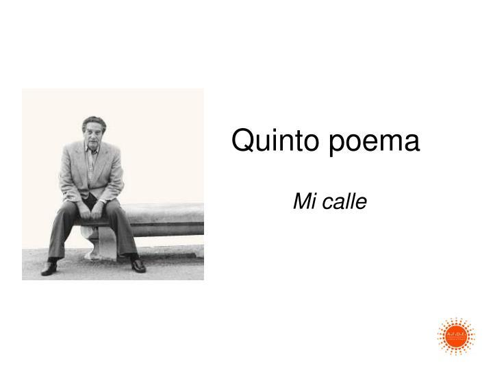 Quinto poema