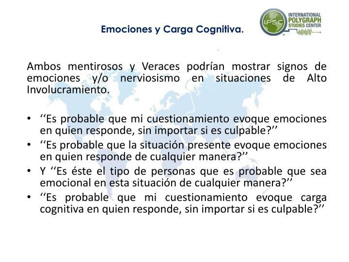 Emociones y Carga Cognitiva.