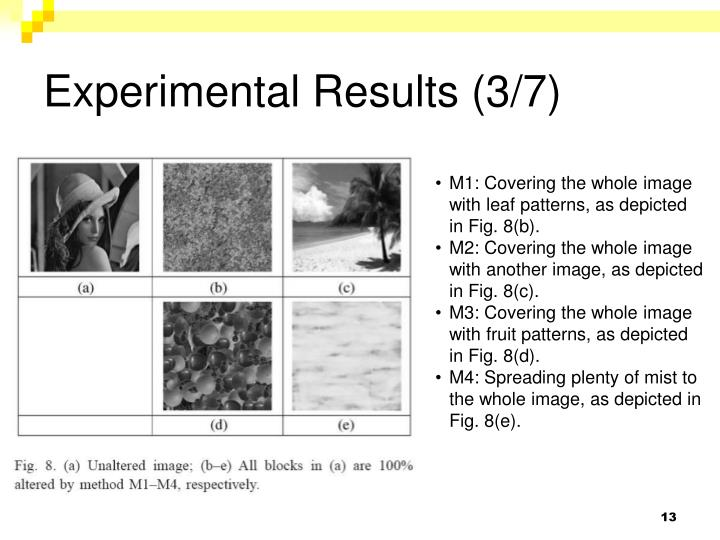 Experimental Results (3/7)