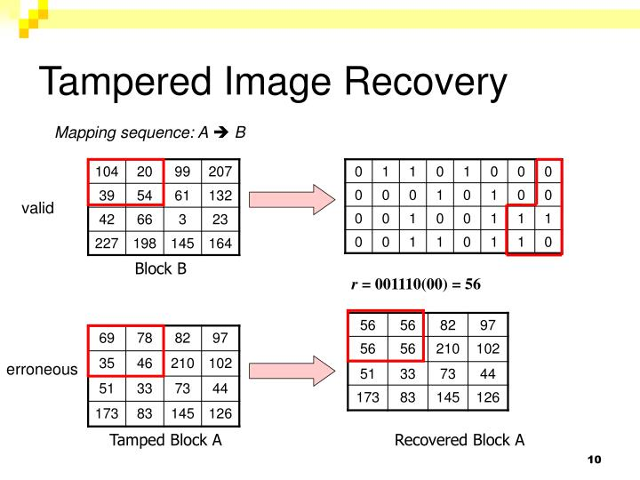 Tampered Image Recovery